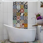 Tile Outlets of America for Mediterranean Bathroom with Colorful Tiles