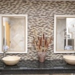 Tile Outlets of America for Traditional Bathroom with Glass Mosaic