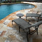 Tile Outlets of America for Tropical Spaces with Travertine Spa Surround