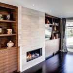 Tiled Fireplaces for Contemporary Family Room with General Contractor