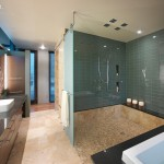 Tiled Shower Ideas for Contemporary Bathroom with Contemporary
