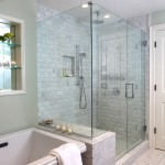 Tiled Shower Ideas for Traditional Bathroom with Marble