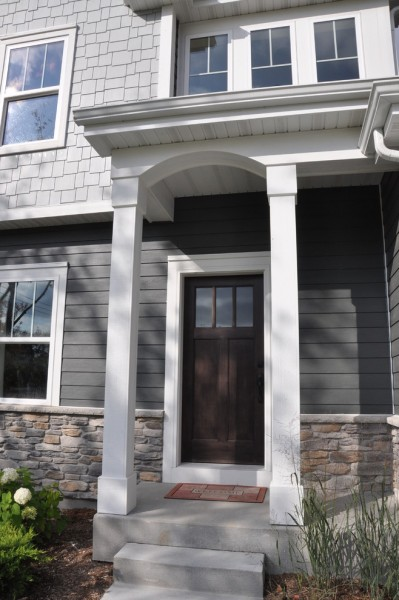 Tim O Brien Homes for Traditional Exterior with Harbor Gray Vinyl Siding