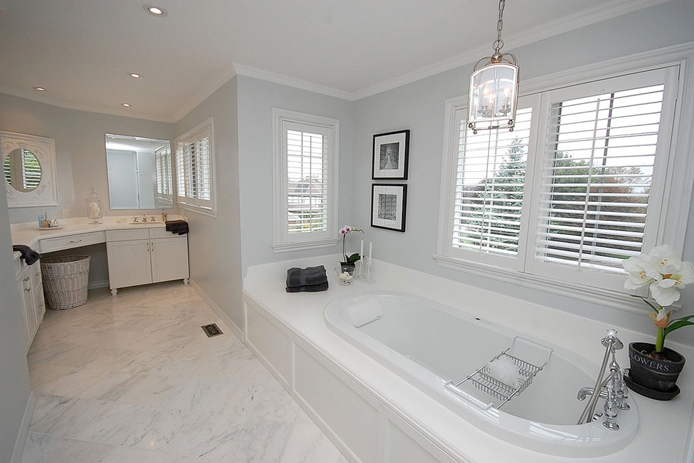 Tint Masters for Traditional Bathroom with Marble Tiles