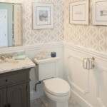 Toilet Paper Holder Height for Traditional Bathroom with Hex Tile