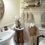 Toilet Paper Holder Height for Traditional Bathroom with Side Table