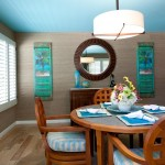 Tommy Bahamas Palm Desert for Tropical Dining Room with Floral Arrangement