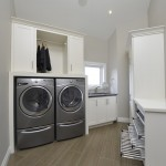 Top Loader vs Front Loader for Contemporary Laundry Room with Odd Shaped Room