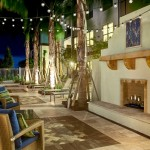 Tortuga Pointe for Contemporary Patio with Outdoor Fireplace