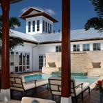Tradewinds Furniture for Transitional Pool with Wood Post