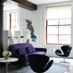 Tribeca Salon for Contemporary Living Room with Abstract Art