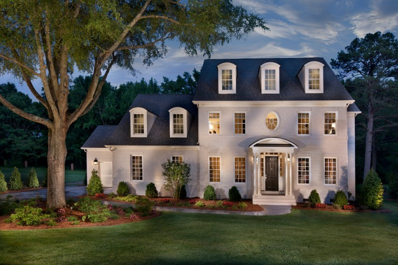 True Homes Charlotte Nc for Traditional Exterior with Accent Lighting