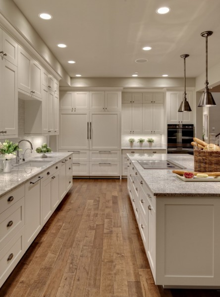 Turn Style for Transitional Kitchen with White Kitchen