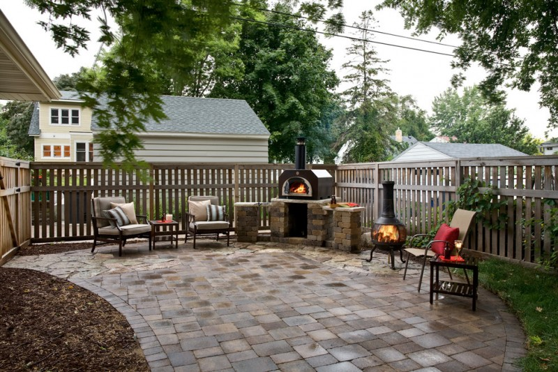 Tuscan Oven for Traditional Patio with Stone Patio