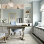 Ubuildit for Transitional Home Office with Light Blue Walls