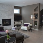 Urban Home Sherman Oaks for Transitional Living Room with Glass Side Table
