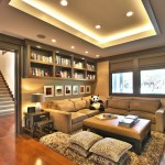 Urban Squared Realty for Contemporary Family Room with Built in Shelves