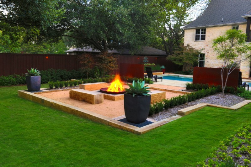 Urban Squared Realty for Modern Landscape with Quarry Block