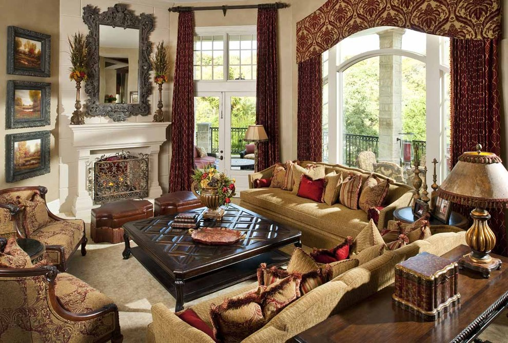 Valance Definition for Mediterranean Living Room with Box