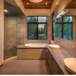 Valhalla Tahoe for Modern Bathroom with Truckee Tahoe Architecture