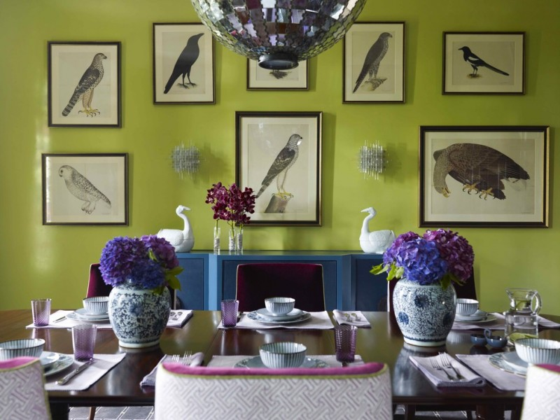 Valspar Color Chart for Contemporary Dining Room with Gallery Wall