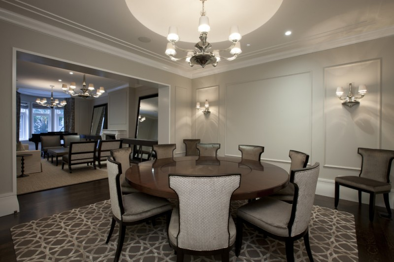 Valspar Colors for Contemporary Dining Room with Area Rug