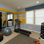 Van Metre Homes for Traditional Home Gym with Striped Wall