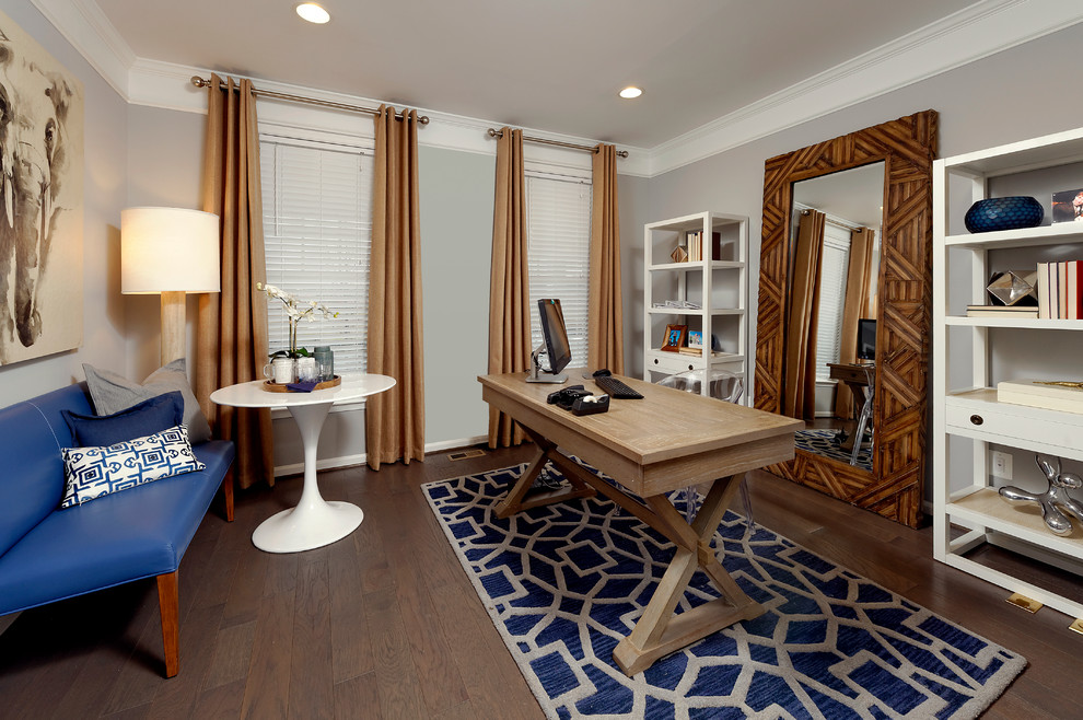 Van Metre Homes for Traditional Home Office with Recessed Lighting