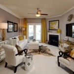 Van Metre Homes for Transitional Living Room with White Trim