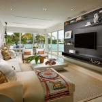Venetian Causeway for Contemporary Family Room with Decorative Accents