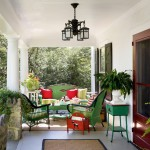 Veranda Magazine for Traditional Porch with Red Front Door