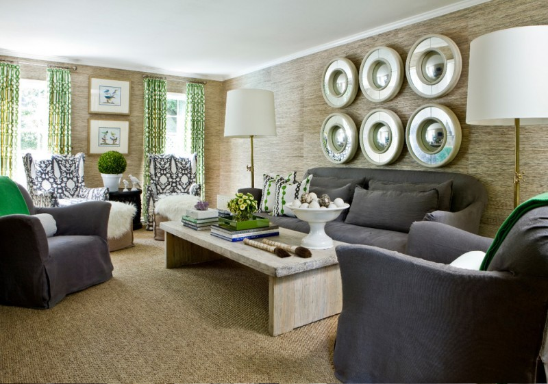 Verellen Furniture for Contemporary Living Room with Green and Black Living Room