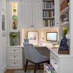 Vienna Waits for You for Traditional Home Office with Glass Front Cabinets