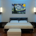 Vincent Van Gogh Cafe Terrace at Night for Modern Bedroom with Large