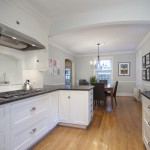 Virginia Mist Granite for Traditional Kitchen with Chandelier