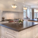Virginia Mist Granite for Transitional Kitchen with White Cabinets