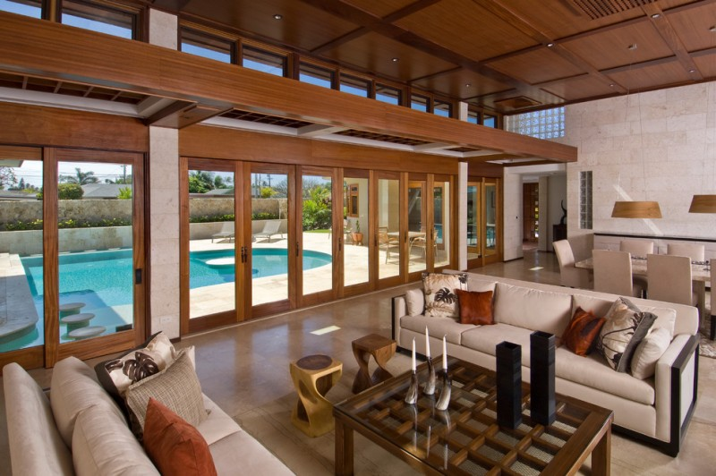 Vitex Reviews for Contemporary Living Room with Wood Panel