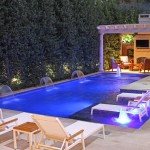 Voss Lighting for Modern Pool with Outdoor Furniture
