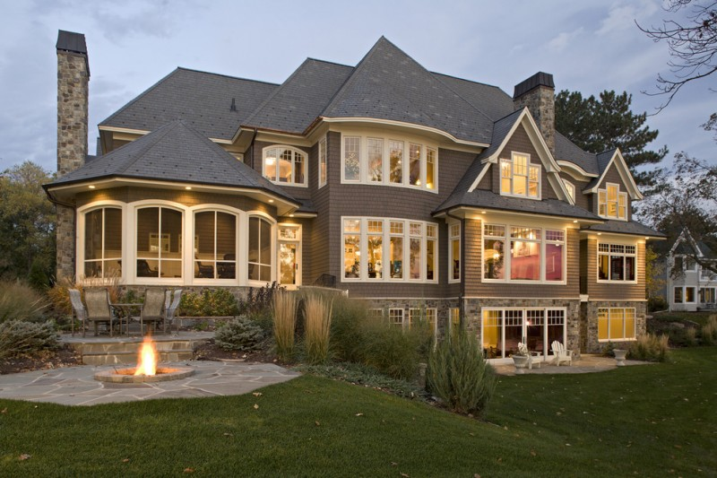 Walkout Basement House Plans for Traditional Exterior with Large House