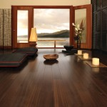 Wallett for Asian Living Room with African Mahogany Bronze Hardwood