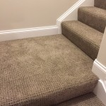 Wallett for Transitional Staircase with Carpeting on Staircase