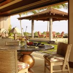 Walters Wicker for Tropical Patio with Sliding Wall