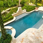 Water Spicket for Traditional Pool with Stone