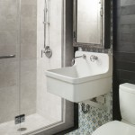 Watermark Apartments for Eclectic Bathroom with Bathroom Mirror