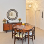 Watermark Apartments for Eclectic Dining Room with Warwick Fabric