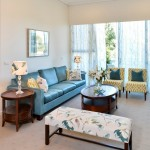 Watermark Apartments for Eclectic Living Room with Blue Chair