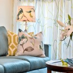 Watermark Apartments for Eclectic Living Room with Floral Motif