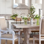 Waterworks Denver for Transitional Kitchen with Rustic Dining Table