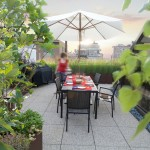 Wausau Tile for Contemporary Deck with Garden Planning