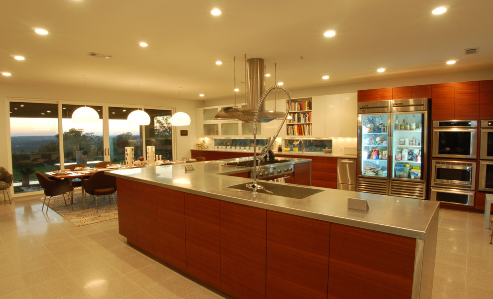 Wausau Tile for Contemporary Kitchen with Ceiling Lighting